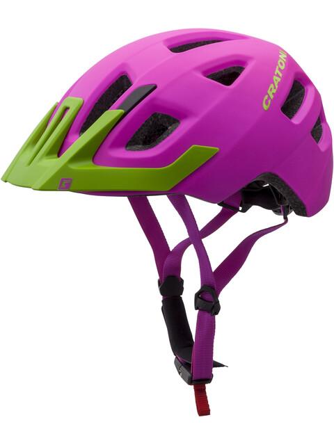 Cratoni Maxster Pro Helmet Kids pink-lime matt